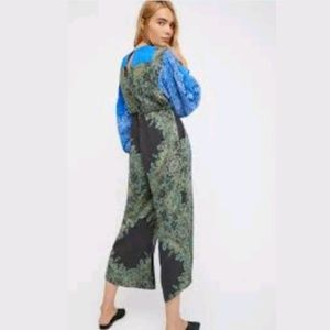 NEW Free People Blooming Fields Paisley Jumpsuit